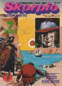 Copertina SKORPIO ANNO  2 n.29 - SKORPIO 1978            29, EDITORIALE AUREA
