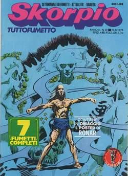 Copertina SKORPIO ANNO  2 n.31 - SKORPIO 1978            31, EDITORIALE AUREA