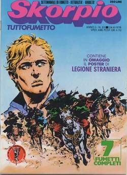 Copertina SKORPIO ANNO  2 n.33 - SKORPIO 1978            33, EDITORIALE AUREA