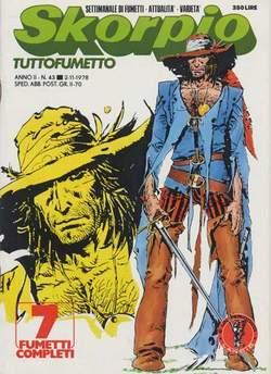Copertina SKORPIO ANNO  2 n.43 - SKORPIO 1978            43, EDITORIALE AUREA