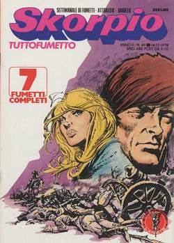 Copertina SKORPIO ANNO  2 n.49 - SKORPIO 1978            49, EDITORIALE AUREA
