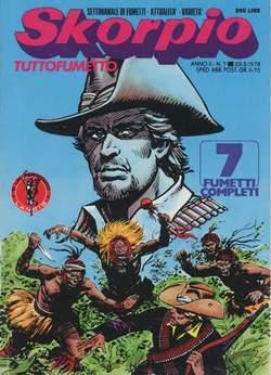 Copertina SKORPIO ANNO  2 n.7 - SKORPIO 1978             7, EDITORIALE AUREA