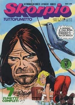 Copertina SKORPIO ANNO  2 n.8 - SKORPIO 1978             8, EDITORIALE AUREA