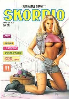 Copertina SKORPIO ANNO 22 n.40 - SKORPIO 1998            40, EDITORIALE AUREA
