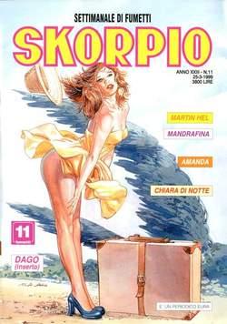 Copertina SKORPIO ANNO 23 n.11 - SKORPIO 1999            11, EDITORIALE AUREA