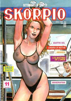 Copertina SKORPIO ANNO 23 n.8 - SKORPIO 1999             8, EDITORIALE AUREA