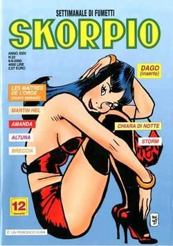 Copertina SKORPIO ANNO 24 n.22 - SKORPIO 2000            22, EDITORIALE AUREA