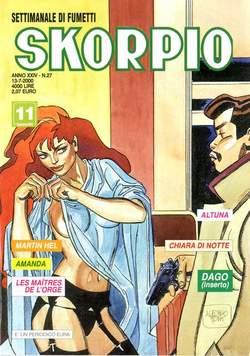 Copertina SKORPIO ANNO 24 n.27 - SKORPIO 2000            27, EDITORIALE AUREA
