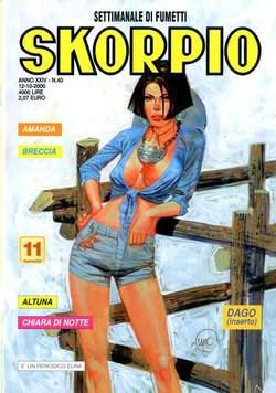 Copertina SKORPIO ANNO 24 n.40 - SKORPIO 2000            40, EDITORIALE AUREA
