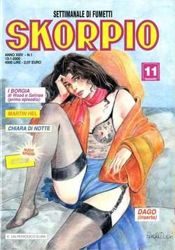 Copertina SKORPIO ANNO 24 n.1 - SKORPIO 2000             1, EDITORIALE AUREA