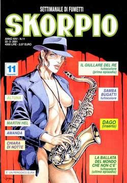 Copertina SKORPIO ANNO 25 n.11 - SKORPIO 2001            11, EDITORIALE AUREA