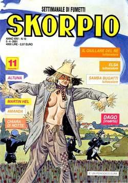 Copertina SKORPIO ANNO 25 n.13 - SKORPIO 2001            13, EDITORIALE AUREA