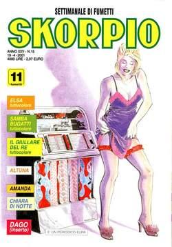 Copertina SKORPIO ANNO 25 n.15 - SKORPIO 2001            15, EDITORIALE AUREA