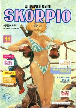 Copertina SKORPIO ANNO 25 n.22 - SKORPIO 2001            22, EDITORIALE AUREA