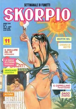 Copertina SKORPIO ANNO 25 n.37 - SKORPIO 2001            37, EDITORIALE AUREA