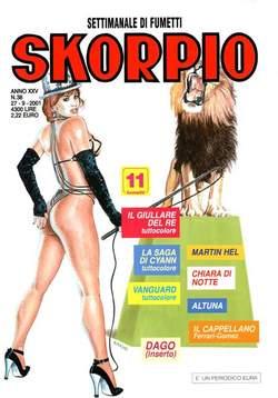 Copertina SKORPIO ANNO 25 n.38 - SKORPIO 2001            38, EDITORIALE AUREA