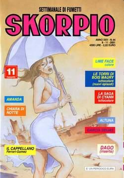 Copertina SKORPIO ANNO 25 n.44 - SKORPIO 2001            44, EDITORIALE AUREA