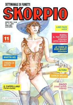 Copertina SKORPIO ANNO 25 n.46 - SKORPIO 2001            46, EDITORIALE AUREA