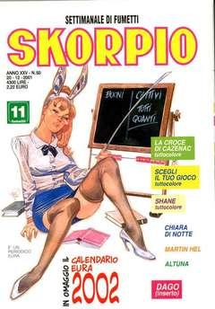 Copertina SKORPIO ANNO 25 n.50 - SKORPIO 2001            50, EDITORIALE AUREA