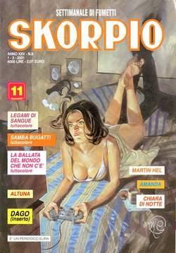 Copertina SKORPIO ANNO 25 n.8 - SKORPIO 2001             8, EDITORIALE AUREA