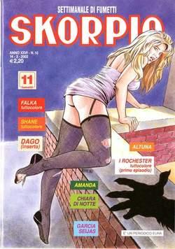 Copertina SKORPIO ANNO 26 n.10 - SKORPIO 2002            10, EDITORIALE AUREA