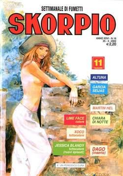 Copertina SKORPIO ANNO 26 n.16 - SKORPIO 2002            16, EDITORIALE AUREA