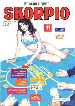 Copertina SKORPIO ANNO 26 n.18 - SKORPIO 2002            18, EDITORIALE AUREA