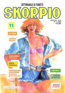 Copertina SKORPIO ANNO 26 n.20 - SKORPIO 2002            20, EDITORIALE AUREA