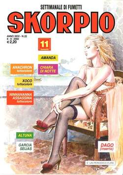 Copertina SKORPIO ANNO 26 n.22 - SKORPIO 2002            22, EDITORIALE AUREA