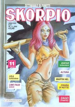 Copertina SKORPIO ANNO 26 n.47 - SKORPIO 2002            47, EDITORIALE AUREA