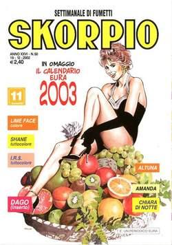 Copertina SKORPIO ANNO 26 n.50 - SKORPIO 2002            50, EDITORIALE AUREA