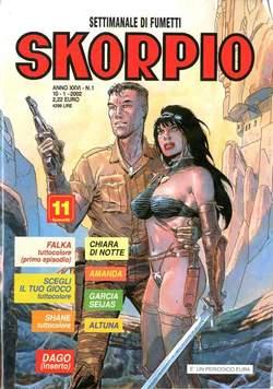 Copertina SKORPIO ANNO 26 n.1 - SKORPIO 2002             1, EDITORIALE AUREA