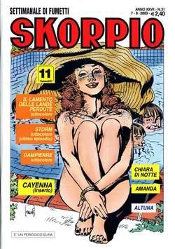 Copertina SKORPIO ANNO 27 n.31 - SKORPIO 2003            31, EDITORIALE AUREA