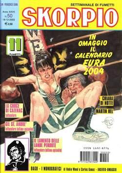 Copertina SKORPIO ANNO 27 n.50 - SKORPIO 2003            50, EDITORIALE AUREA