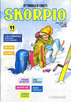 Copertina SKORPIO ANNO 27 n.2 - SKORPIO 2003             2, EDITORIALE AUREA
