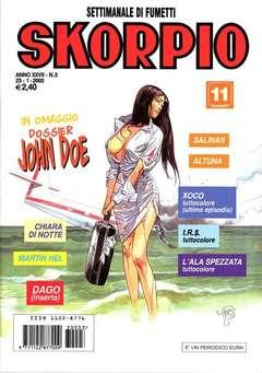 Copertina SKORPIO ANNO 27 n.3 - SKORPIO 2003             3, EDITORIALE AUREA