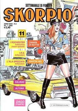 Copertina SKORPIO ANNO 27 n.4 - SKORPIO 2003             4, EDITORIALE AUREA