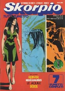 Copertina SKORPIO ANNO  3 n.16 - SKORPIO 1979            16, EDITORIALE AUREA