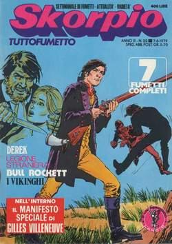 Copertina SKORPIO ANNO  3 n.22 - SKORPIO 1979            22, EDITORIALE AUREA