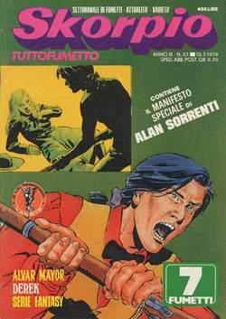 Copertina SKORPIO ANNO  3 n.27 - SKORPIO 1979            27, EDITORIALE AUREA