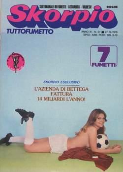Copertina SKORPIO ANNO  3 n.51 - SKORPIO 1979            51, EDITORIALE AUREA