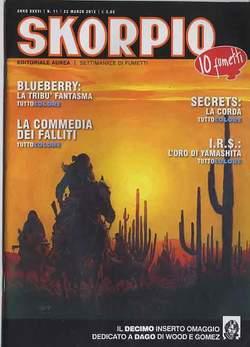 Copertina SKORPIO ANNO 36 n.11 - SKORPIO 2012             11, EDITORIALE AUREA