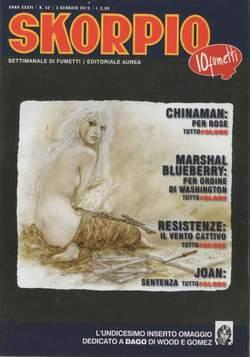 Copertina SKORPIO ANNO 36 n.52 - SKORPIO 2012             52, EDITORIALE AUREA