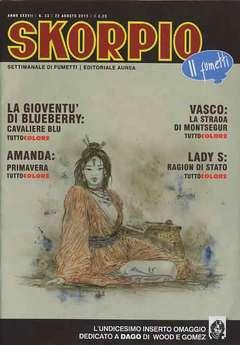 Copertina SKORPIO ANNO 37 n.33 - SKORPIO 2013             33, EDITORIALE AUREA