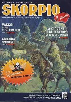 Copertina SKORPIO ANNO 37 n.41 - SKORPIO 2013             41, EDITORIALE AUREA