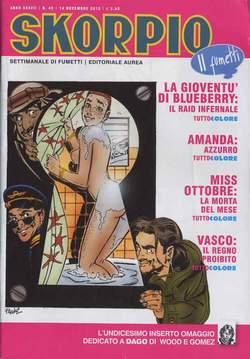 Copertina SKORPIO ANNO 37 n.45 - SKORPIO 2013             45, EDITORIALE AUREA