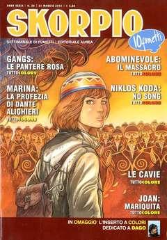 Copertina SKORPIO ANNO 39 n.20 - SKORPIO 2015             20, EDITORIALE AUREA