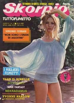 Copertina SKORPIO ANNO  4 n.11 - SKORPIO 1980            11, EDITORIALE AUREA