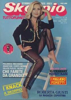 Copertina SKORPIO ANNO  4 n.18 - SKORPIO 1980            18, EDITORIALE AUREA