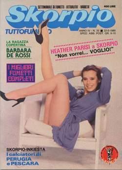 Copertina SKORPIO ANNO  4 n.20 - SKORPIO 1980            20, EDITORIALE AUREA